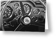 1968 Aston Martin Steering Wheel Emblem Greeting Card