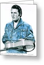 1968 Blue Denim Suit Greeting Card