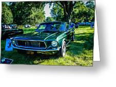 1968 Bullitt Mustang Greeting Card