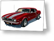 1968 Camaro Ss 350 Greeting Card