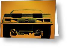 1968 Camaro Ss  Full Rear Greeting Card