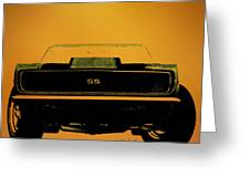 1968 Camaro Ss Head On Greeting Card