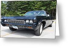 1968 Chevrolet Impala Sedan Greeting Card by John Telfer