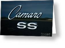 1968 Chevy Camaro Ss Logo Greeting Card
