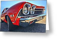 1968 Chevy Chevelle Ss 396 Greeting Card