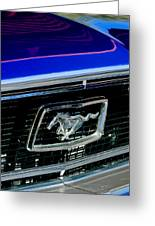 1968 Ford Mustang Cobra Gt 350 Grille Emblem Greeting Card