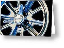 1968 Ford Mustang Fastback 427 Shelby Cobra Wheel Greeting Card