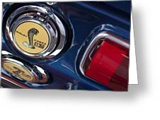1968 Ford Mustang - Shelby Cobra Gt 350 Taillight And Gas Cap Greeting Card