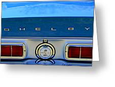 1968 Ford Shelby Gt500 Kr Convertible Rear Emblems Greeting Card