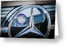 1968 Mercedes-benz 280 Sl Roadster Emblem -0919c Greeting Card