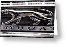 1968 Mercury Cougar Emblem Greeting Card by David Patterson
