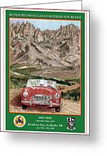 Mountain Rallying In A 1968 M G B  Greeting Card