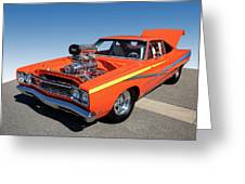1968 Plymouth Road Runner Greeting Card