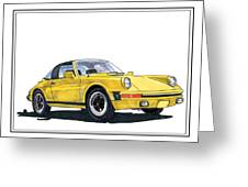 1968 Porsche Targa Greeting Card