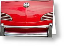 1968 Volkswagen Karmann Ghia Convertible Hood Emblem Greeting Card