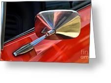 1969 Chevrolet Camaro Rs - Orange - Side Mirror - 7588 Greeting Card