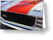1969 Chevrolet Camaro Rs-ss Indy Pace Car Replica Grille - Hood Emblems Greeting Card