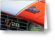 1969 Chevrolet Camaro Z-28 Emblem Greeting Card