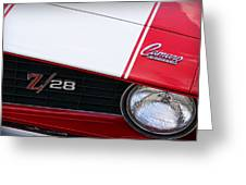 1969 Chevrolet Camaro Z28 Greeting Card