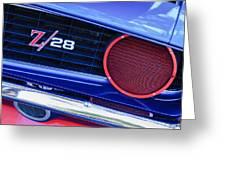 1969 Chevrolet Camaro Z28 Grille Emblem Greeting Card