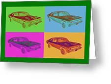1969 Chevrolet Nova Yenko 427 Muscle Car Pop Art Greeting Card