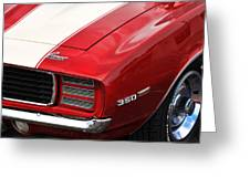 1969 Chevy Camaro Rs Greeting Card