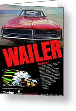 1969 Dodge Charger R/t Greeting Card