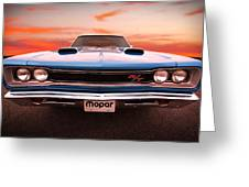 1969 Dodge Coronet R/t In B5 Blue Greeting Card