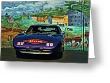 1969 Dodge Daytona Stock Car Replica Greeting Card