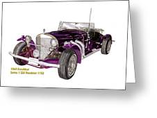 1969 Excalibur Ss Roadster Greeting Card