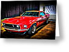 1969 Ford Boss 429 Mustang Greeting Card