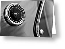 1969 Ford Mustang Mach 1 Side Emblem Greeting Card by Jill Reger