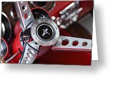 1969 Ford Mustang Mach 1 Steering Wheel Greeting Card