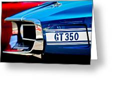 1969 Ford Mustang Shelby Gt350 Grille Emblem Greeting Card