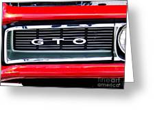 1969 Gto Grill Greeting Card