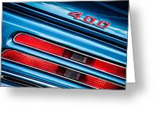 1969 Pontiac 400 Firebird Convertible Taillight Emblem -0029c Greeting Card