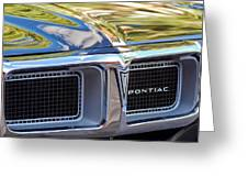 1969 Pontiac Firebird 400 Grille Greeting Card