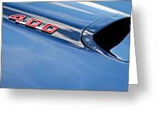 1969 Pontiac Firebird 400 Hood Greeting Card