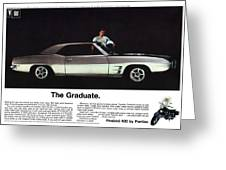 1969 Pontiac Firebird 400 - The Graduate Greeting Card