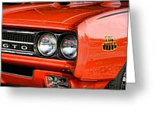 1969 Pontiac Gto The Judge Greeting Card