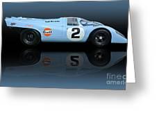1969 Porsche 917k Gulf Daytona Winner Greeting Card