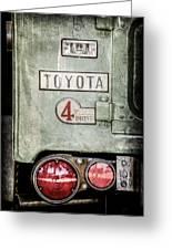 1969 Toyota Fj-40 Land Cruiser Taillight Emblem -0417ac Greeting Card