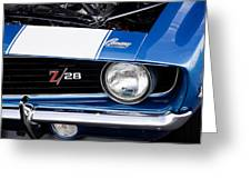 1969 Z28 Camaro Real Muscle Car Greeting Card