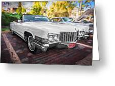 1970 Cadillac Coupe Deville Convertible Painted  Greeting Card