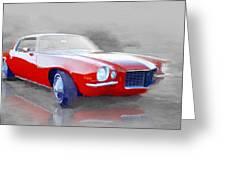 1970 Chevy Camaro Watercolor Greeting Card