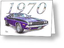 1970 Dodge Challenger Greeting Card