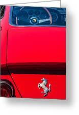1970 Ferrari 365 Gtb-4 Daytona Berlinetta Taillight Emblem -1482c Greeting Card