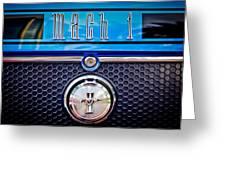 1970 Ford Mustang Gt Mach 1 Emblem Greeting Card