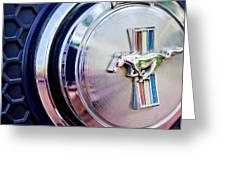 1970 Ford Mustang Mach 1 Emblem Greeting Card