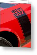 1970 Ford Mustang Sportsroof Boss 302 Emblem Greeting Card